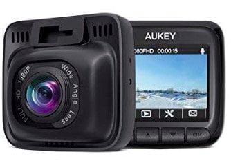 face avant et arrière de la caméra dashcam Aukey grand angle