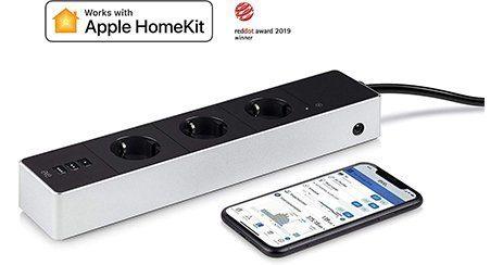 Eve Energy Strip Multiprise connectee compteur de consommation Apple HomeKit
